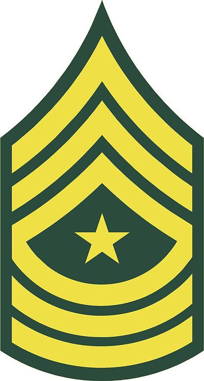 Sergeant Major Decal