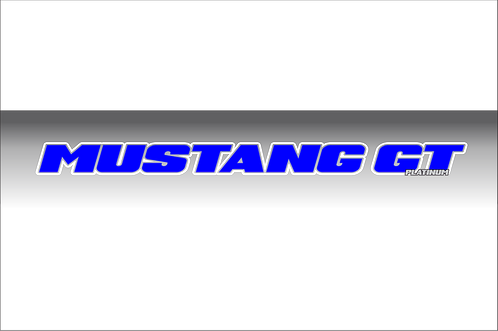 Mustang GT Platinum - Blue and White Windshield Graphic