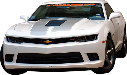 Camaro SS - TRB Orange and White Windshield Graphic