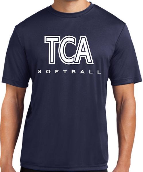 TCA Spirit Wear T-Shirt Navy Dry Fit - ST350