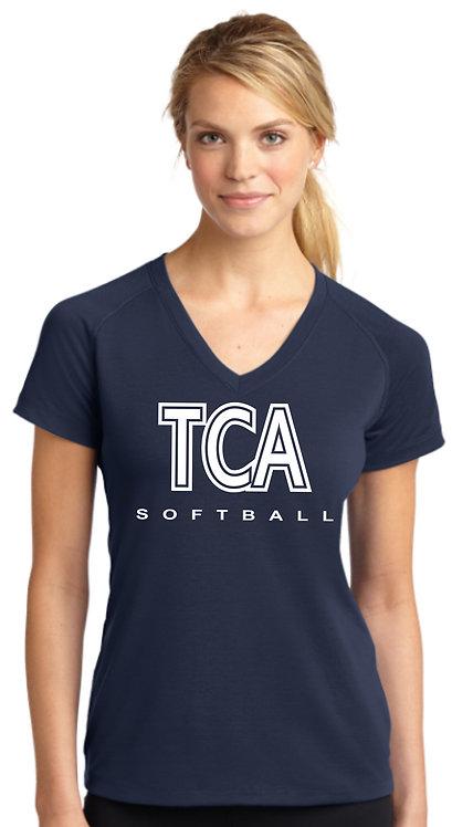 TCA Spirit Wear Ladies Navy Shirt - LST700