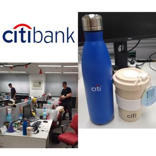 Manuseio Citibank brindes de natal