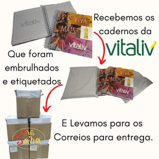 """Detalhes do manuseio """"Cadernos Vitaliv"""""""