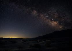 Death Valley Milky Way Over Dunes