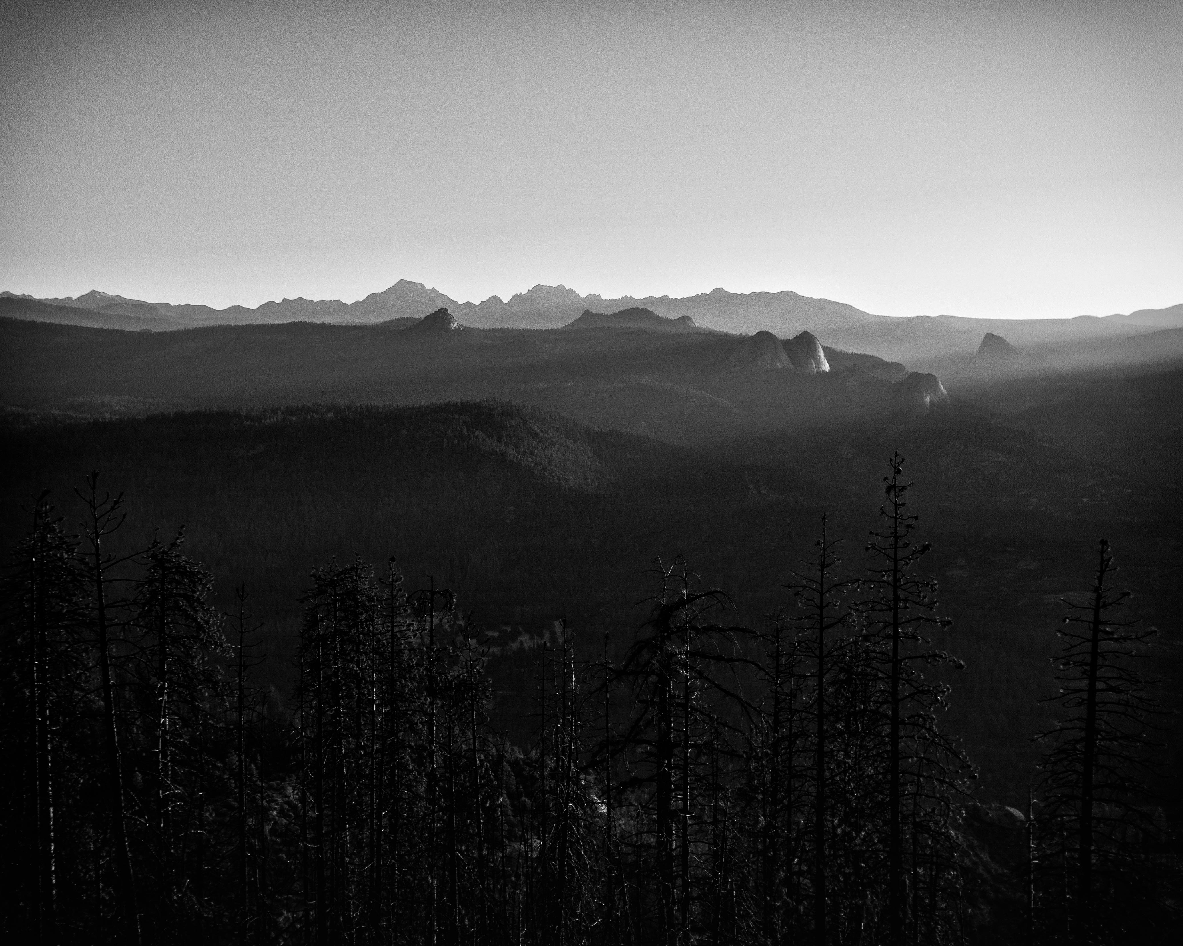 Sierra Peaks Silhouette