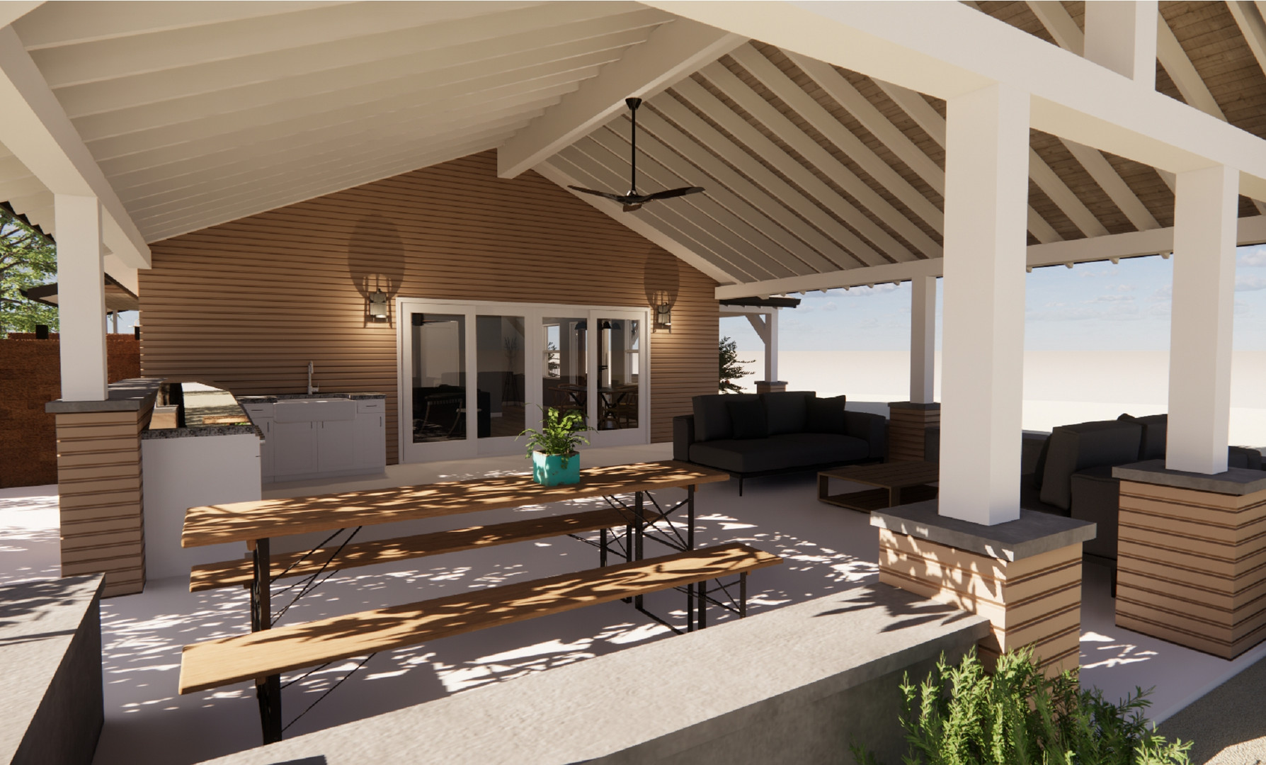 PALO CEDRO ADU REMODEL - COVERED OUTDOOR LIVING SPACE