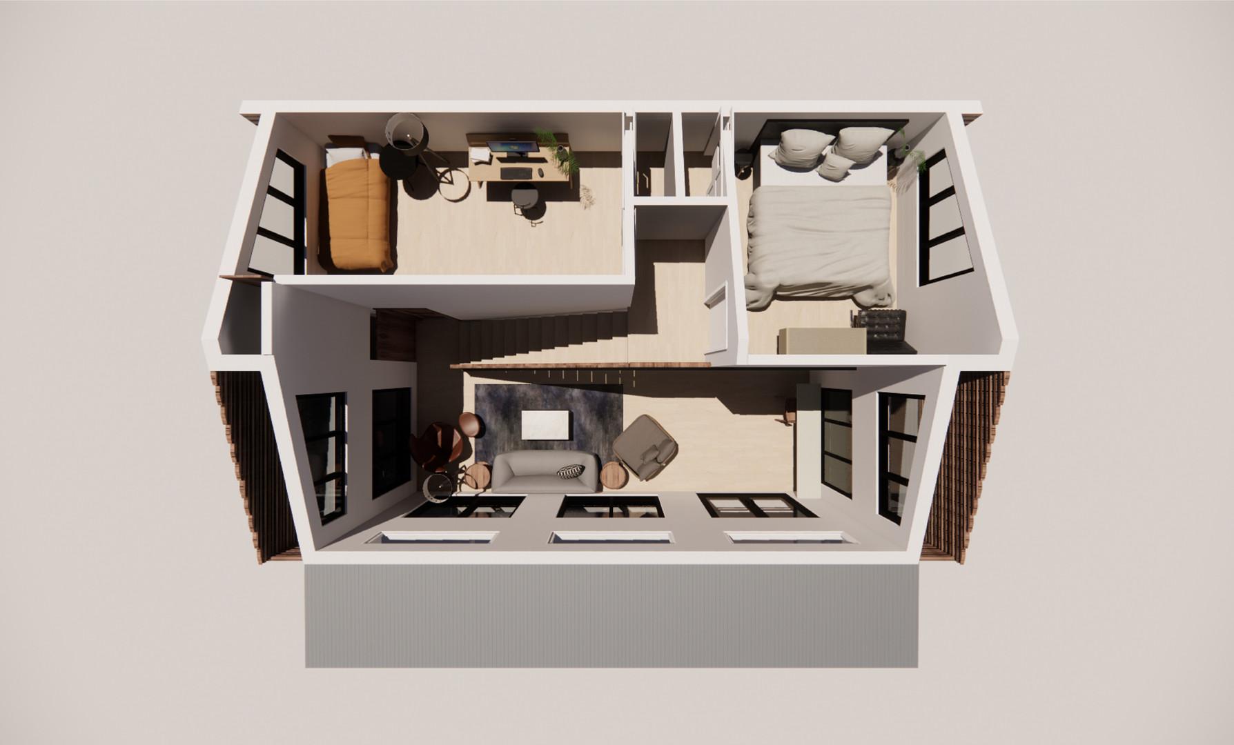 FLOOR PLAN - LOFT (2-BEDROOM OPTION)