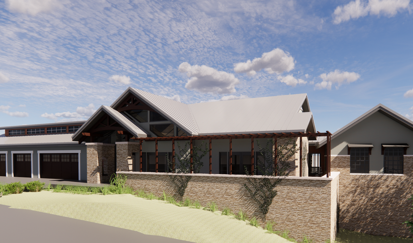 CUSTOM RESIDENCE 2 - FRONT ELEVATION