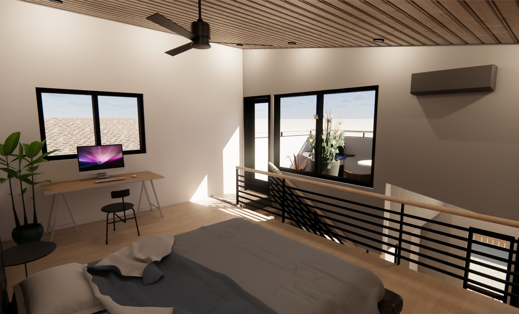 ADU OS-3 - INTERIOR RENDER - LOFT SPACE.