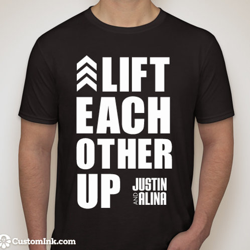 Lift Each Other Up- Black T-shirt
