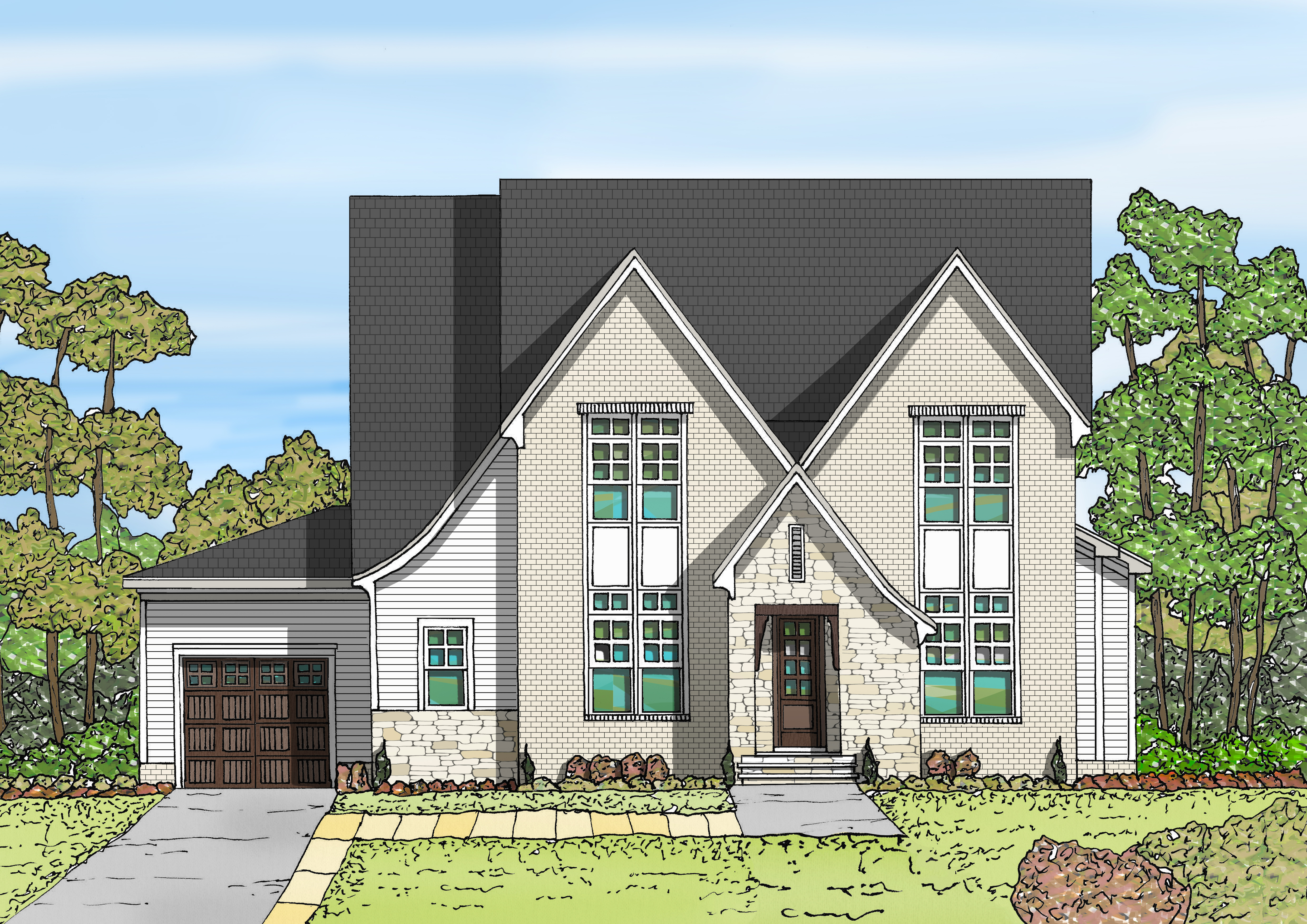 91 Stonewater Colored Rendering