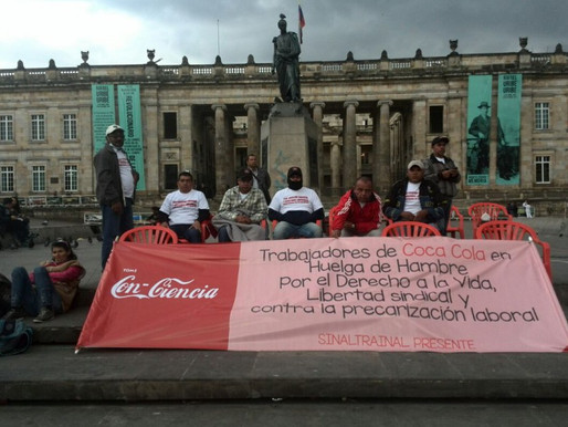 Coca-Cola's new bottling plant threatens workers' rights in Colombia