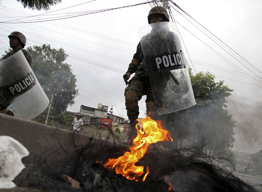 At a Barricade in San Pedro Sula