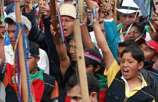 """Nos solidarizamos con la """"Minga"""" en Cauca, Colombia."""