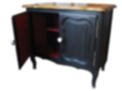 Chalk painted French furniture from papillon-quintin.com