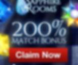 Sapphire Rooms Casino Bonus