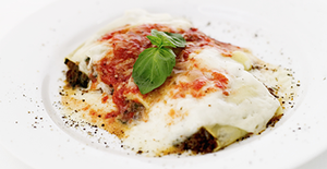 Italian pasta dinner al forno