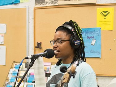 Femme and Fury Tour Radio Realness KSPC 88.7 FM Claremont, CA 7-29-2018  pic by Amber Fargano