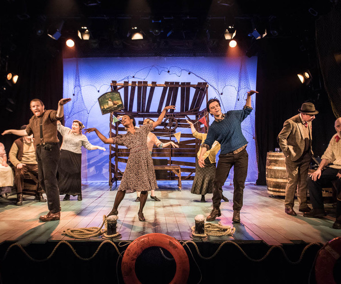 'Silver Darling: The Musical'   Writer: Tim Harvey   Open Road Productions   Derby LIVE   June-July 2017   Director: Daniel Ellis   Set & costume design: Maria Terry   LX Design: Sandy McAlister.  (Photo credit: G. Whitmore)