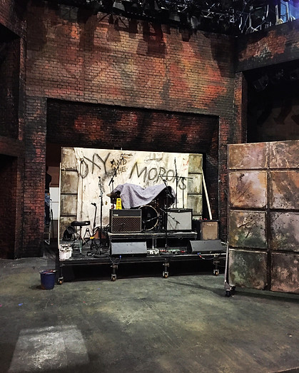 'Oxy and the Morons' A New Punk Musical by Paul Sirett, Mike Peters & Steve Allan Jones | New Wolsey Theatre | Ipswich | October 2017 | Director: Peter Rowe. Designer: Frankie Bradshaw. Scenic Artist: Maria Terry.