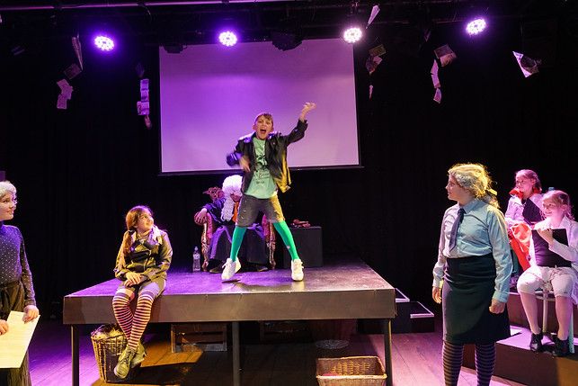 'Little Criminals' by Evan Placey | Derby Theatre Youth Theatre 8-10 Double Bill | Director: Hannah Stone | Design and Scenic Art: Maria Terry | Costume: Aimee Russam| June 2019 | (Photo credit: Chris Webb)