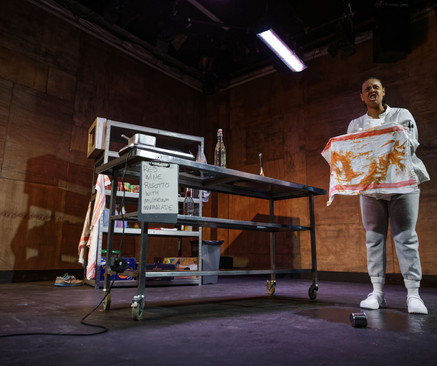 'Chef'   Directors Playground - BOVTS   Writer: Sabrina Mahfouz   May 2021   Designer: Maria Terry   Director: Imy Wyatt-Corner   (Photo credit: Craig Fuller)
