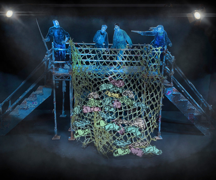 '20,000 Leagues Under The Sea'   BOVTS   1:25 Model box image: The Polluted Crespo Reef   Adapted & directed by: Toby Hulse   Spring 2021   Designer and prop-costume maker: Maria Terry