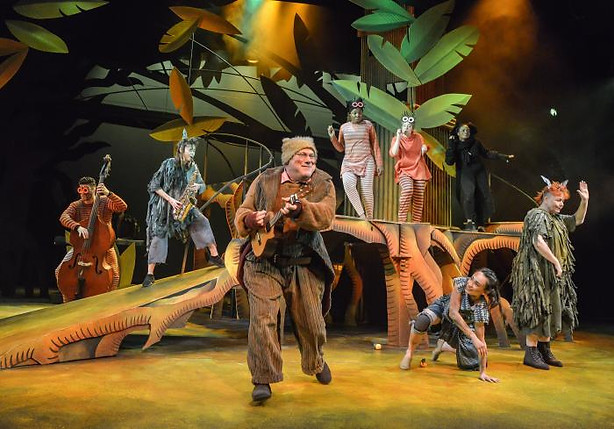 'The Jungle Book' by Neil Duffield | Derby Theatre | April 2019 | Director: Sarah Brigham | Designer: Ali Allen | Scenic Painter: Maria Terry |(Photo credit: Robert Day)