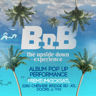 B.o.B drops first Instagram Album | Pop Up Performance in ATL Today