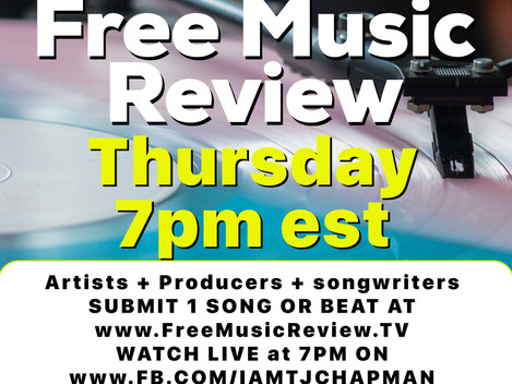 #FreeMusicReview TONIGHT at 7pm est
