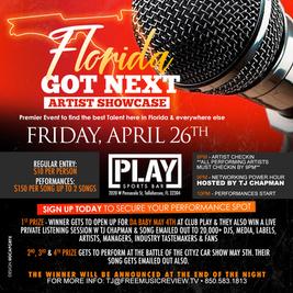 TJ's DJ's & Yep We Kan Presents the Florida Got Next Artist Showcase & Networking Event