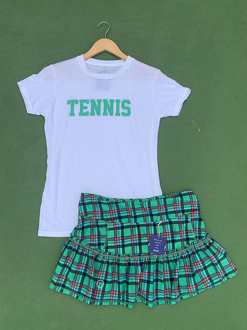 Green Plaid Bubble Lawley Tennis Skirt
