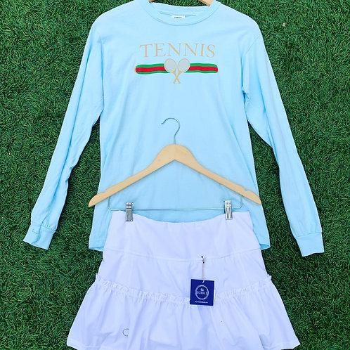 White Lawley Bubble Tennis Skirt