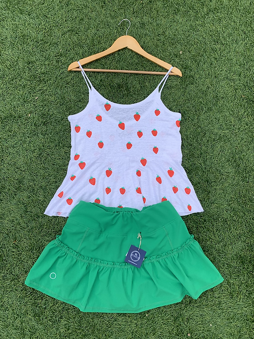 Green Bubble Lawley Tennis Skirt