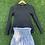 Thumbnail: Zebra Striped Smocked Tennis Skirt