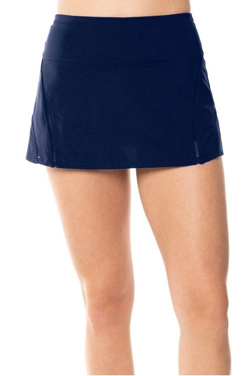 Navy Mesh In-line Tennis Skirt