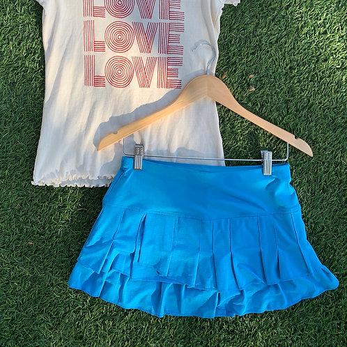 Lucky in love Blue Tennis Skirt