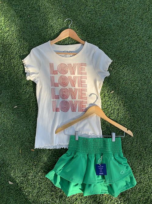 Bubble Ruffle Tennis Skirt