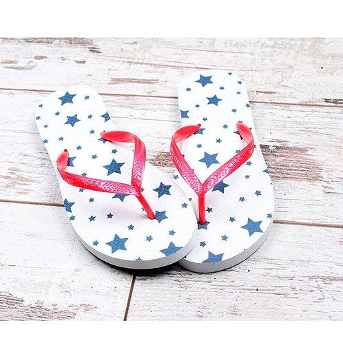 Chaser navy stars flip flops
