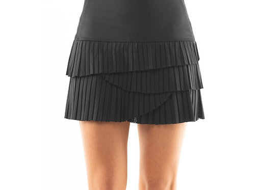 Lucky in Love charcoal pleated Scallop tennis skirt