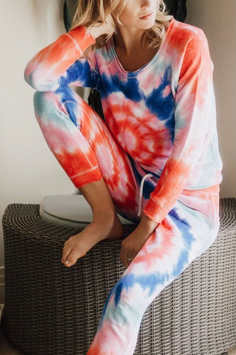Chaser Tie dye Embroidered Bolts Pant