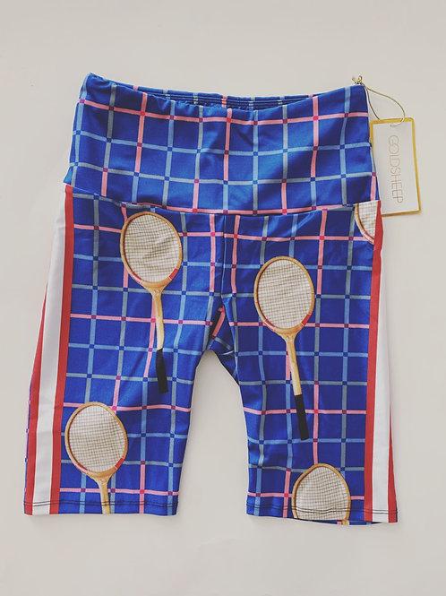 Goldsheep Tennis Plaid bike Shorts