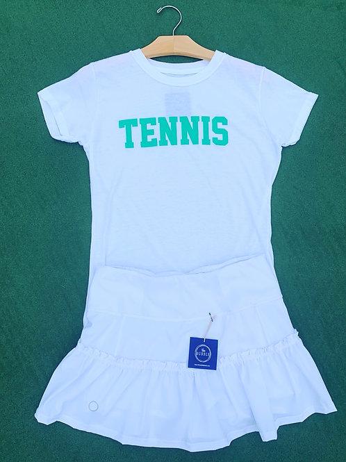 Bubble Brand Green Tennis Tee