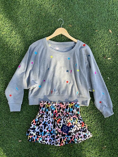 Bubble Rainbow Cheetah Tennis Skirt