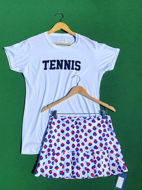 Bubble Brand Navy Tennis Tee