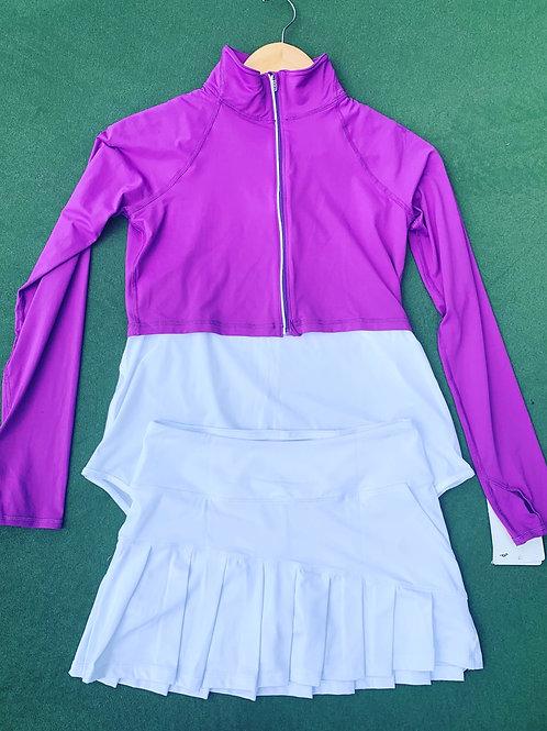 Bloq UV purple cropped jacket