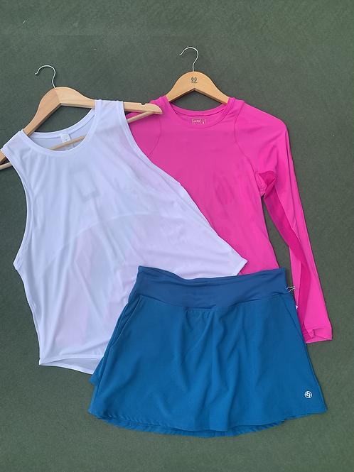 Lija teal tennis Skirt