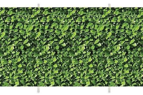 Laurel Hedge 4 Pole Compact Windbreak (Steel Poles)