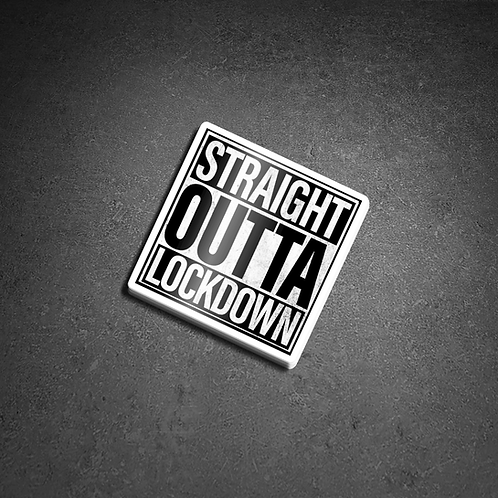Straight Outta Lockdown External Sticker