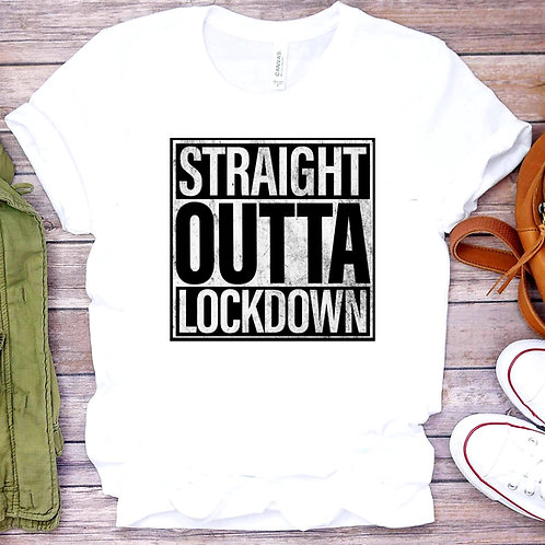 Straight Outta Lockdown Unisex T-Shirt/hoodie